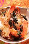 Fried shrimps with Thai basil