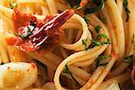 Spaghetti à l'ail et les piments séchés