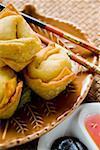 Raviolis frits aux deux sauces