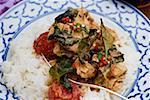 Cari de poulet avec du riz (Thaïlande)