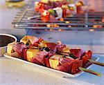 Brochettes de légumes et de tofu grillé