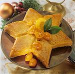 Lemon star cake for Christmas