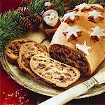 Styrian Kletzenbrot (fruit bread) partly sliced