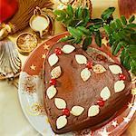 Heart-shaped chocolate cake