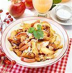 Kaiserschmarrn (Emperor's pancake) with stewed apple
