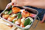 Cuisses de poulet mariné à la sauge et le fenouil (toujours cru)