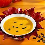 Styrian pumpkin soup with pumpkin seeds