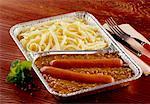 Linsen mit Wurst Bockwurst & Spätzle Nudeln