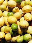 Fresh lemons and limes