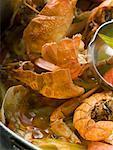 Crayfish stew (close-up)