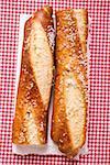 Salted pretzel stick, halved