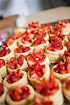 Strawberries in vol-au-vent cases