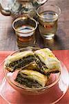 Baklava (pâte Filo avec miel et pistaches, Turquie)