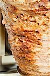 Döner kebab à broche (gros plan)