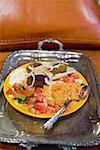 Falafel mit Couscous, Tomaten-Salat & Joghurt (Nordafrika)