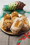 Biscuits aux amandes italiennes sur plaque (Noël)