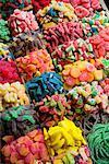 Sélection de bonbons à La Boqueria, Barcelone, Espagne