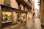 Lane with Shops, Barcelona, Spain