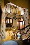 Treppenhaus im Casa Batllo, Barcelona, Spanien