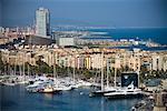 Harbour in Port Vell, Barcelona, Spain