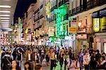Shopping Along the Calle del Carmen, Madrid, Spain