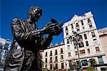 Statue of Federico Garcia Lorca, Madrid, Spain