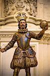 Statue of Christopher Columbus in the Cathedral de Santa Maria de la Sede, Seville, Spain