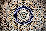 Gros plan du carrelage marocain