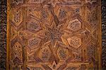 Gros plan de sculpture marocaine