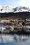 Bateaux de Coastal Town, Ushuaia, Patagonie, Argentine