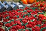 Raspberries at Market
