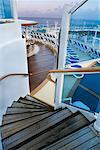 Staircase on Cruise Ship, Caribbean Sea