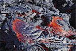 Reunion, Piton de la Fournaise volcano, incandescent lava