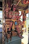 Mauritius, hinduist Tamil temple, statue