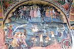 Bulgarie, Trojan, église du monastère, fresque