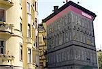 Hungary, Budapest, murals