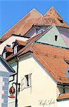 Slovenia, Maribor, city roofs