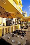 United States, Florida, Miami Beach, Ocean Drive, restaurant terrace