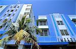 United States, Florida, Miami Beach, Ocean Drive, Art Deco buildings