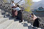 China, Shanxi province, Mount Wutai, Pusading temple and monastery, pilgrims