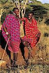 Tanzania, portrait of two young Maasai