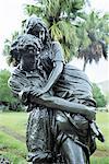 Mauritius, Pamplemousse gardens, Paul et Virginie statue