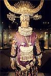 China, Shanghai, Chinese art museum, traditional costume