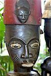 Sénégal, artisanat, statue en bois