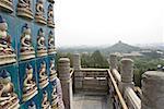 China, Beijing, Beihai Park, Jade island, at the top of the white pagoda, panorama