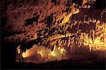 Éclairés le grottes de Skocjan, Slovénie