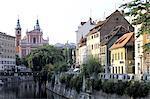 Quais de Ljubljanica de Slovénie, Ljubljana,