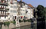 Quais de la rivière Ljubljanica de Slovénie, Ljubljana,