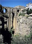 Spain, Andalusia, Ronda, bridge over the canyon