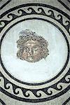 Spain, Andalusia, Cordoba, the alcazar, Roman mosaic of head of medusa